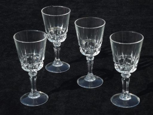 Lady Victoria French Glass Stemware Cordial Glasses