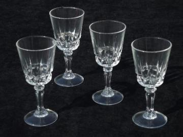 Lady Victoria french glass stemware, cordial glasses sherry wine glass set