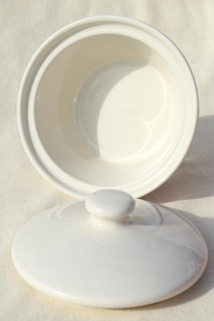 Longaberger Holly Christmas Traditions stoneware pottery, small covered dish, butter tub w/ lid