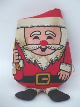 Mattel talking Santa cloth doll stuffed toy, vintage 1968