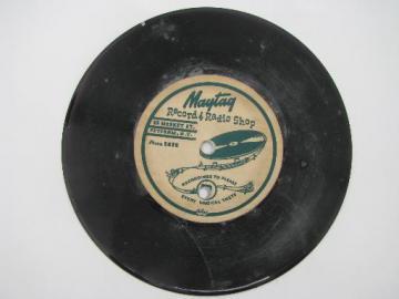 Maytag Record and Radio Shop, Potsdam NY Mid century vintage advertising