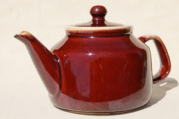 McCoy pottery brown drip glaze teapot, vintage tea pot