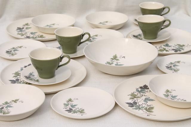 Melody Lane vintage Homemaker dinnerware w/ grapes u0026 vines Taylor Smith Taylor china & Melody Lane vintage Homemaker dinnerware w/ grapes u0026 vines Taylor ...