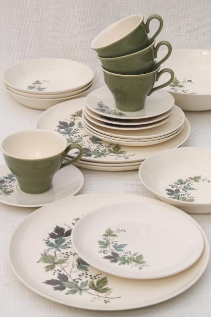 Melody Lane vintage Homemaker dinnerware w/ grapes u0026 vines Taylor Smith Taylor china & Melody Lane vintage Homemaker dinnerware w/ grapes u0026 vines Taylor ...