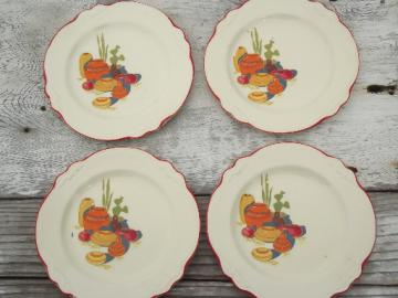 Mexicali cactus pattern vintage Homer Laughlin china plates, Virginia Rose