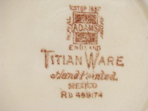 Vintage Adams Titianware MEXICO Handpainted Plate