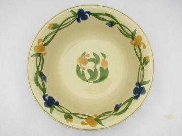 Mexico hand-painted flowers, TitianWare English china bowl, vintage Adams-England