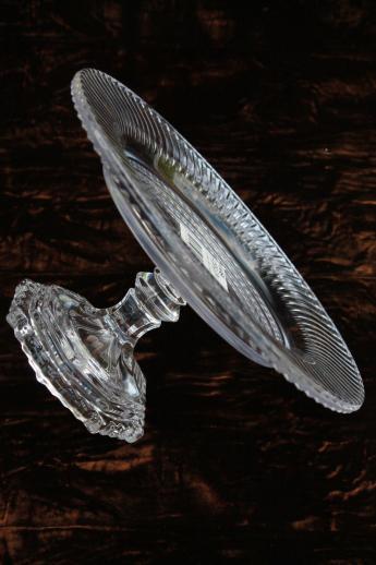 Mikasa Crystal Clear Glass Footed Bon Bon Dish Mini Glass
