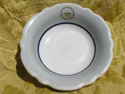 Military Air Transfer seal marked vintage ironstone china bowl