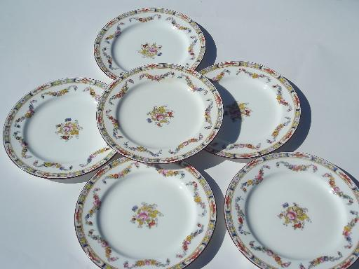 b6037d29d4474 Minton Rose Antique Handpainted Mintonu0027s China Plates Luncheon Plate Lot