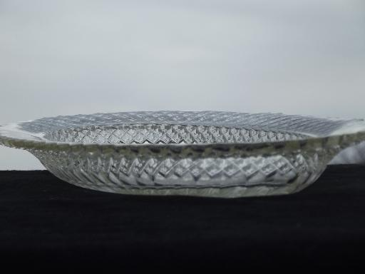 Miss America Anchor Hocking glass oval tray, vintage depression glass