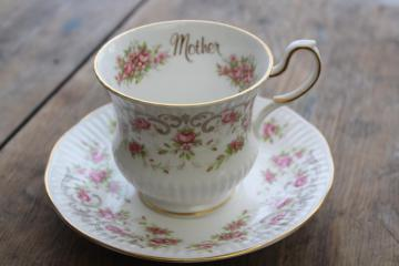 Mothers day gift vintage tea cup & saucer, Rosina Queens England bone china