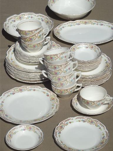 Mount Clemens Mildred Floral China Dishes For 10 Vintage
