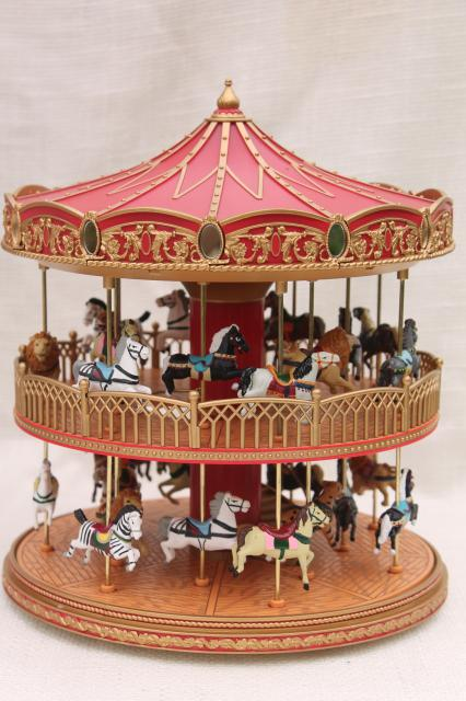 mr christmas double decker carousel for sale
