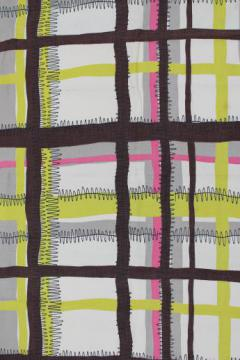 Nashua cotton fabric w/ mod decorator print, mid-century modern vintage fabric