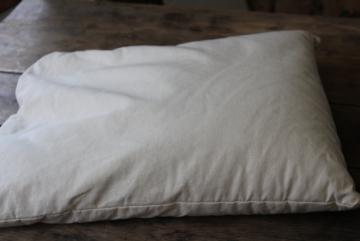 Nature's Pillows natural buckwheat hulls pillow, unbleached cotton fabric
