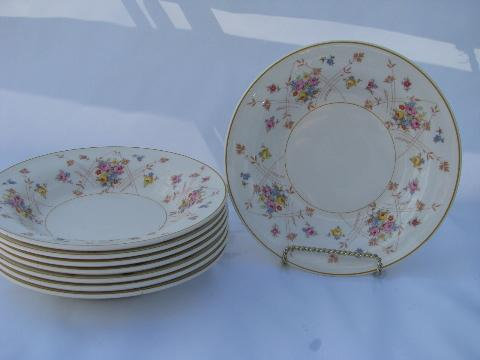 New Princess tiny flowers pattern vintage American Limoges china 8 soup bowls & antique \u0026 vintage USA china patterns