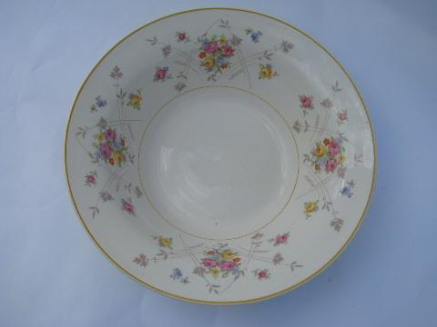 New Princess tiny flowers pattern, vintage American Limoges china, bowls lot