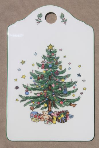 Nikko Happy Holidays china cheese board,& Christmas tree pattern ...