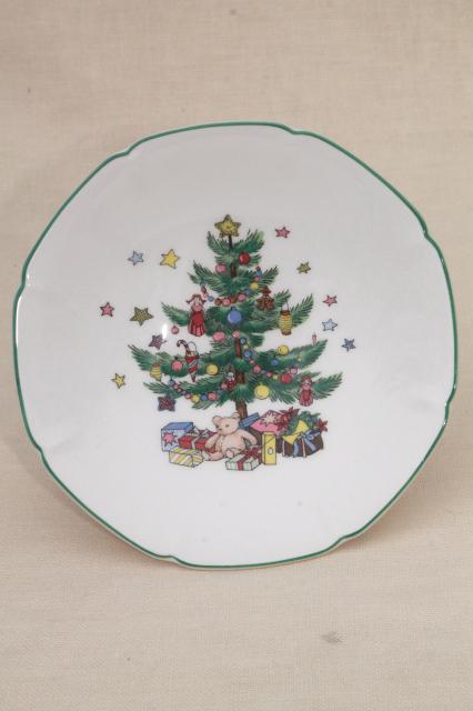Nikko Japan Happy Holidays Christmas tree china candy dish or small ...