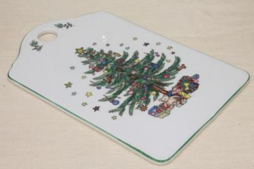 Nikko Japan Happy Holidays Christmas tree china cheese & cracker board