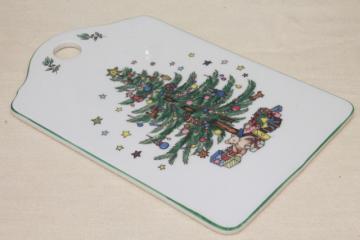 Nikko Japan Happy Holidays Christmas tree china cheese & cracker board