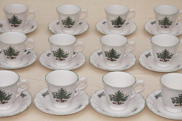 Nikko Japan Happy Holidays Christmas tree china vintage cups ...