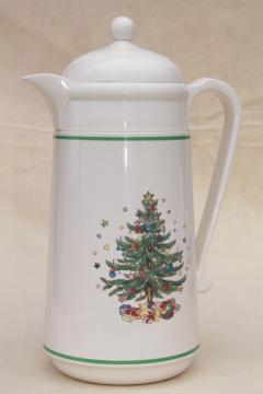 Nikko Japan Happy Holidays Christmas tree plastic thermos insulated carafe pitcher