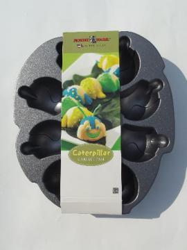 Nordic Ware cakelet caterpillar cake pan, never used non-stick aluminum