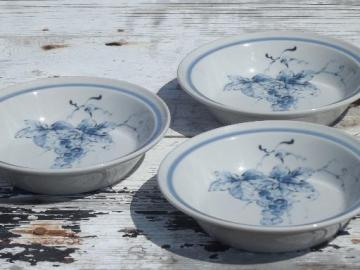 Noritake Primastone stoneware soup bowls, blue grapes Sonoma vine & grape