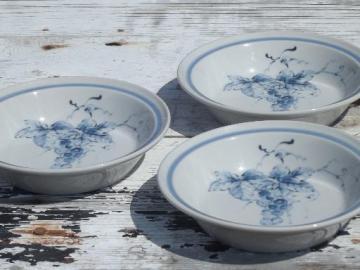 Noritake Primastone stoneware soup bowls, blue grapes Sonoma vine & grape