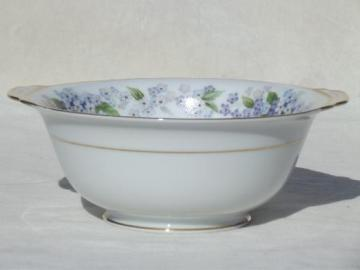 Noritake Ramona china cereal or sauce bowl w/ tiny blue & white flowers