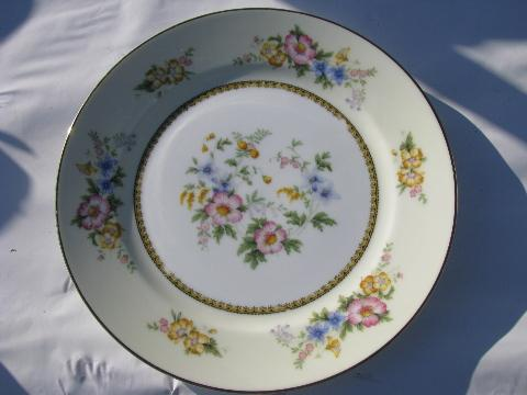 Noritake Wildfleur vintage china dinner plates old M mark set of 8 & Wildfleur vintage china dinner plates old M mark set of 8