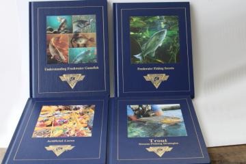 North American freshwater game fish & trout fishing books lot, fisherman guides