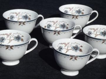 Old Colony vintage Royal Doulton china, 6 footed coffee / tea cups