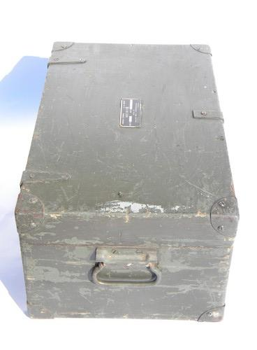 Old WWII US Army Signal Corps wood dovetailed instrument chest