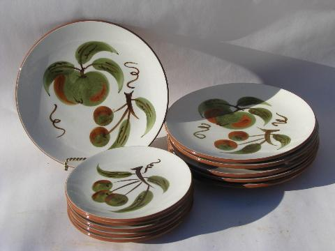 Orchard Song fruit vintage Stangl pottery dishes bowls plates cups \u0026 saucers & Orchard Song fruit vintage Stangl pottery dishes bowls plates ...