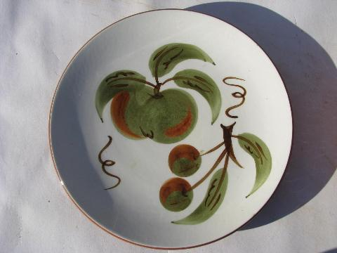 Orchard Song Fruit Vintage Stangl Pottery Dishes Bowls