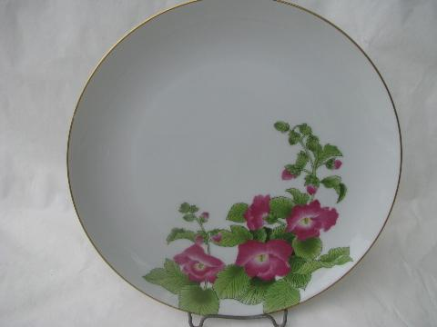& Otagiri - Japan 8 dinner plates w/ flowers Gibson Greetings patterns