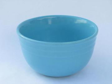 Oxford stoneware, vintage blue glaze pottery kitchen mixing bowl