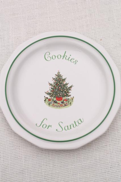 Christmas Heritage holiday dishes - Cookies for Santa, star, bell ...