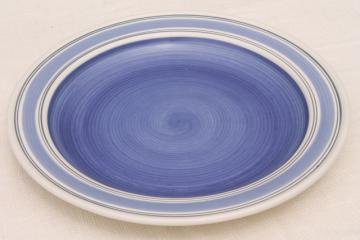 Pfaltzgraff Rio huge ceramic platter, serving plate or tray, blue & white Mexico pottery