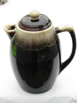 Pfaltzgraff gourmet brown drip pottery coffee pot