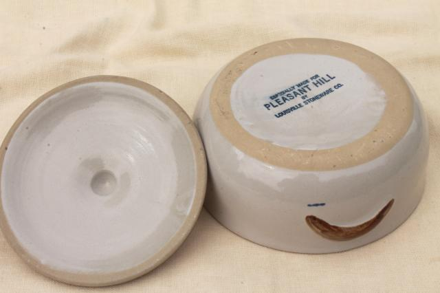 Pleasant Hill Louisville stoneware pottery, tree of life casserole and cream & sugar