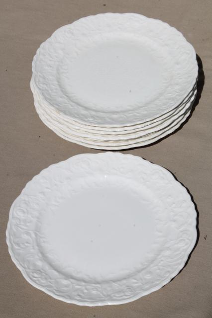 Country cottage corelle amazon com corelle livingware 18 for Plain white plates ikea