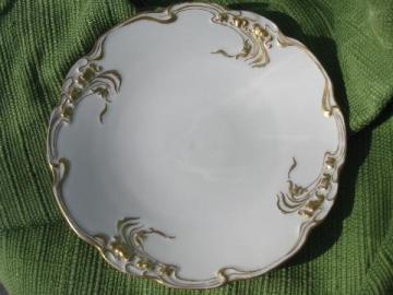 Pouyat - Limoges France, antique china plate w/ handpainted gold floral