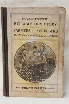 Prairie Farmer's Farmer & Breeders Directory McHenry & Boone County Illinois farms circa 1917