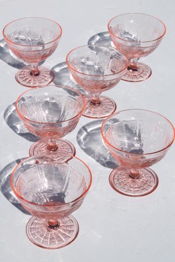 Princess Pink Depression Glass 1930s Vintage Anchor
