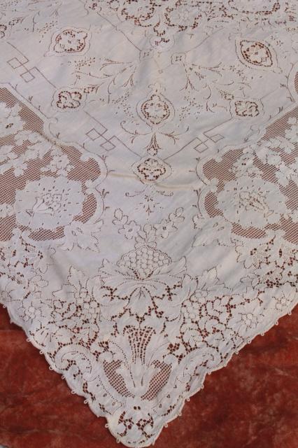Quaker Lace Cotton Lace Tablecloths Shabby Cottage Chic