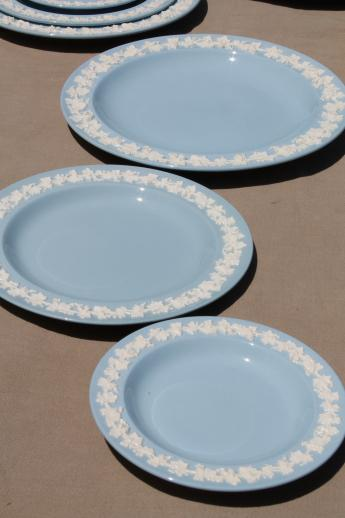 Queen S Ware Wedgwood China Lavender Blue W Cream